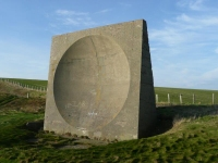 World War I concrete acoustic mirror used to listen for approaching aircraft