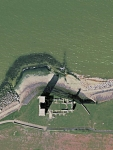The remains of St Mary\'s Church at Reculver from GoogleEarth