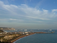 The view across Dover harbour