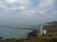 The view back to Dover harbour on the third morning