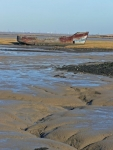 An old boat rotting in Halstow Creek