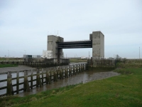 Flood barrier on the River Darent (the border of Kent)