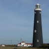 The first of the two Dungeness lighthouses