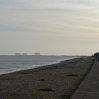 Looking back towards Dungeness from Dymchurch at the end of the first day's walk