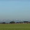 The view north from the highest point on the Isle of Grain