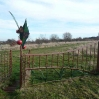 A decorative gate from an old cherry orchard