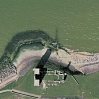 The remains of St Mary's Church at Reculver from GoogleEarth