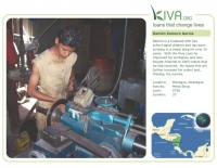 Kiva Calendar 2008 - Ramón Zamora García (October)