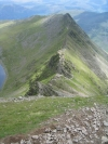 Day 3 - the view along Striding Edge from the top of Helvellyn