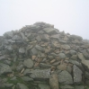Day 1 - Not much to see at the top of Great Rigg, the cairn could only just be seen in the low cloud