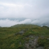 Day 1 - The view from Stone Arthur into the valley of Grasmere (filled with cloud!)