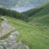 Day 3 - The view of Thirlmere from Comb Crag (on the way up to Helvellyn