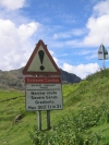 Lake District passes warning sign for Wrynose and Hardknott Passes - better take care then.