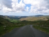 Lake District passes looking down from the top of Hardknott Pass