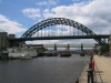 Bridges of Newcastle. Tyne Bridge from Quayside