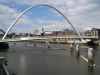 Bridges of Newcastle. Gateshead Millenium Bridge from Baltic