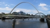 Bridges of Newcastle. Gateshead Millenium Bridge from Hadrians Way