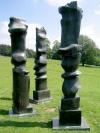 Yorkshire Sculpture Park, June 2007.  A sculpture by Henry Moore