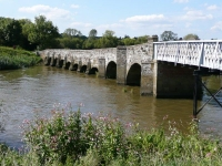 Greatham Bridge, which crosses the River Arun at Coldwaltham south of Pulborough