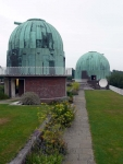 Telescope domes at the former Royal Observatory at Herstmonceux