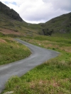 Lake District passes looking back at Hardknott Pass