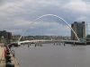 Bridges of Newcastle. Gateshead Millenium Bridge from Quayside