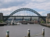 Bridges of Newcastle. Tyne Bridge from Gateshead Millenium Bridge