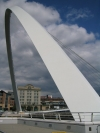 Bridges of Newcastle. Gateshead Millenium Bridge from the side