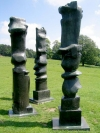 Yorkshire Sculpture Park, June 2007.  A sculpture by Henry Moore