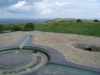 View from Ditchling Beacon trig point towards the east