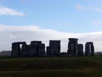 Stonehenge in silhouette