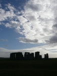 Stonehenge in silhouette