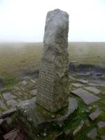 Obelisk on the way up to Pen-y-Fan