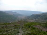 The view back towards Torside Reservoir from Laddow Rocks