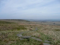 The view north over Withens Height