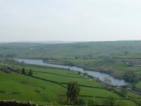 The view back over Ponden Reservoir