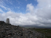 The cairn and trig point on Windy Gyle
