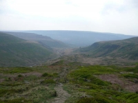 The view back towards Torside Reservoir from Laddow Rocks