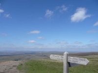 The view north from the top of Pen-y-ghent