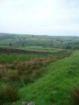Hadrian\'s Wall earthworks out of Greenhead at the start of day 16