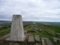 The trig point near Steel Rigg and the end of day 16
