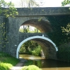 The double bridge at East Marton on the Leeds and Liverpool Canal