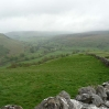 The view down into Swaledale near Mucker