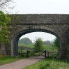 An old railway bridge near Slaggyford at the start of day 15