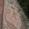 Pebble paving detail at Lotusland