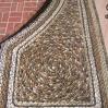 Pebble paving detail at Lotusland