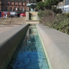 One of the water features outside the Town Hall in Sheffield - each rill had a different pattern of tiles