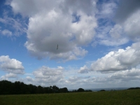 A glider above the South Downs, making the most of the north wind