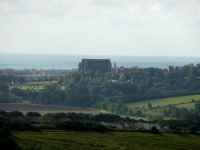 Lancing College dominating the skyline