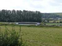 The bridge (closed) over the River Adur - makes the walk a little longer